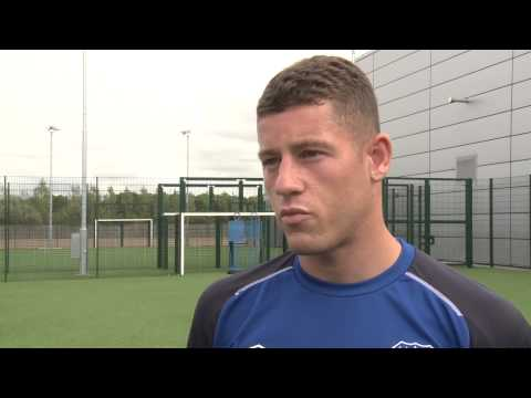 his - Ross Barkley speaks to evertontv after signing his new contract with the Blues.
