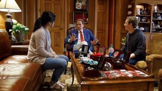 Nick Saban meets with 'the Facebook guy' Mark Zuckerberg on Alabama campus