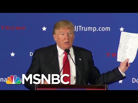 Why President Donald Trump Really Was Running In 'A Rigged System' | MTP Daily | MSNBC
