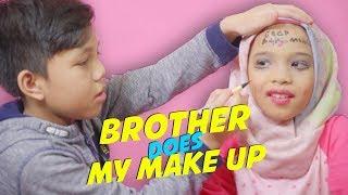 Video Lucu!! Bang Muntaz Halilintar  Make up-in Saleha Malah Coret-coret - My Brother Does My Make Up MP3, 3GP, MP4, WEBM, AVI, FLV Juli 2019