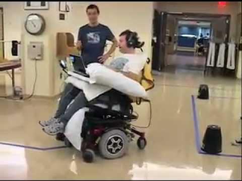 Jazyk dokáže řídit vozík