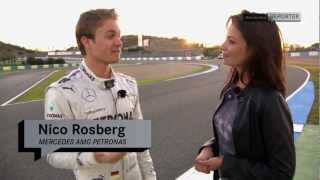 Mercedes-Benz TV: Torie meets the 2013 Silver Arrow Team