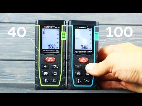 Электронные рулетки ручной лазерный дальномер с уровнем и визиром