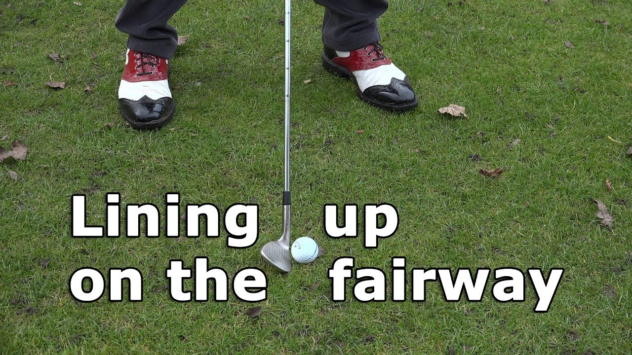 Tips to line up correctly on the fairway