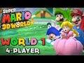 Super Mario 3d World World 1 4 player