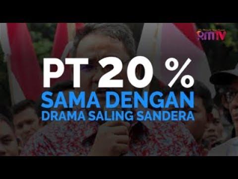 PT 20 Persen Sama Dengan Drama Saling Sandera