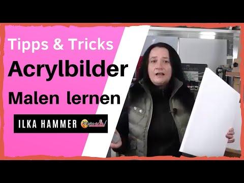 Acryl Malen lernen – Die 5 besten Tipps für Ihren Schnellstart zum Acryl Malen lernen …