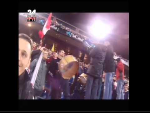 Paulo Futre na claque Frente Atlético - Atlético Madrid 0 vs Valencia 0