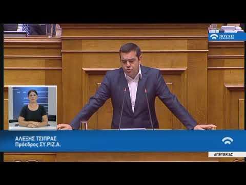 Α.Τσίπρας(Πρόεδρος ΣΥ.ΡΙΖ.Α.)(Δευτερολογία)(Προγραμματικές δηλώσεις)(22/07/2019)