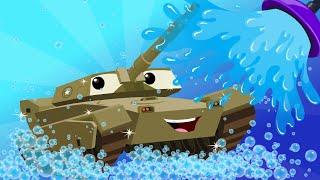 Video army tank | kids car wash | car cartoon for children | kids channel | videos for kids MP3, 3GP, MP4, WEBM, AVI, FLV November 2017