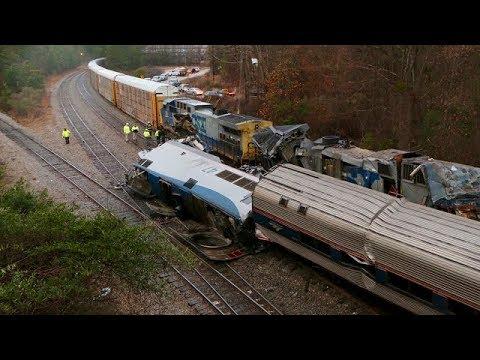Amtrak train crash kills 2 in South Carolina