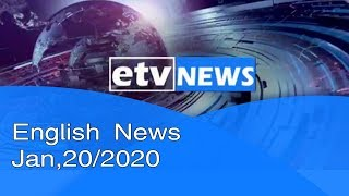 English News Jan,20/2020  |etv