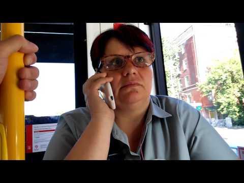 Контролеры в трамвае хамят и бьют по рукам!!! (видео)