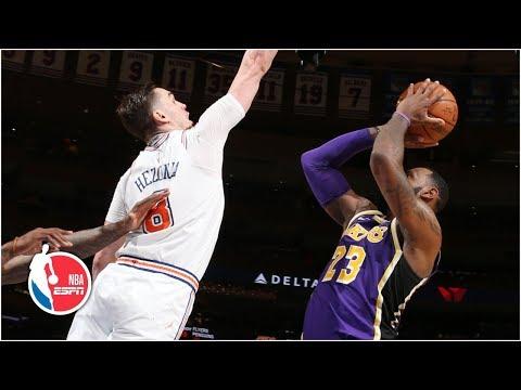 LeBron scores 33 points, game-winner blocked by Mario Hezonja   Lakers vs. Knicks   NBA Highlights