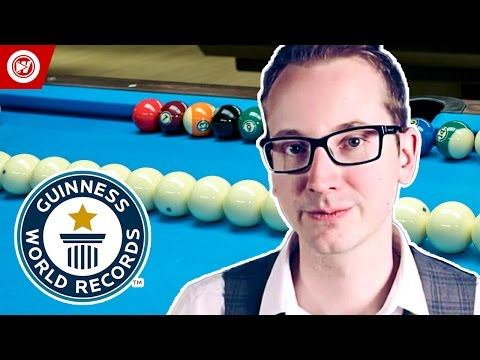 Pool Trick Shot Master Florian  Venom  Kohler Breaks 6 Guinness World