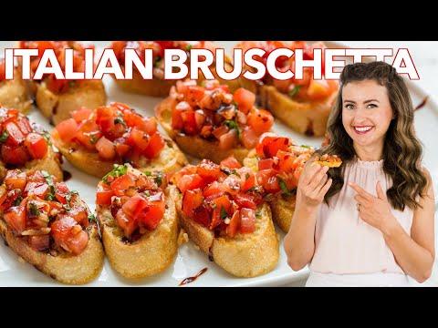 How to Make Italian BRUSCHETTA - Easy Appetizer