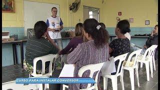 Curso ensina moradores de Sorocaba a instalar conversor digital e antena