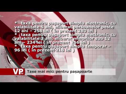 Taxe mai mici pentru pașapoarte