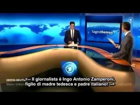 TG tedesco durante Italia 2 - 1 Germania 2012 [sub ita]