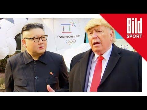 Kim- und Trump-Doppelgänger aus Stadion geworfen (Oly ...