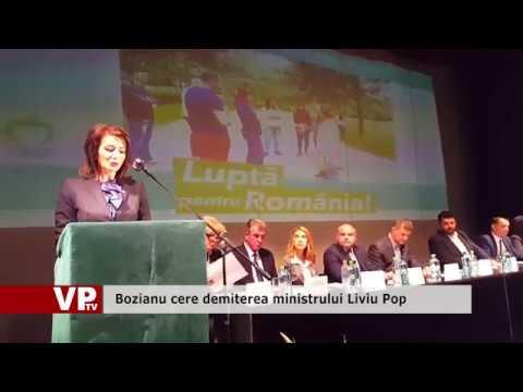 Bozianu cere demiterea ministrului Liviu Pop