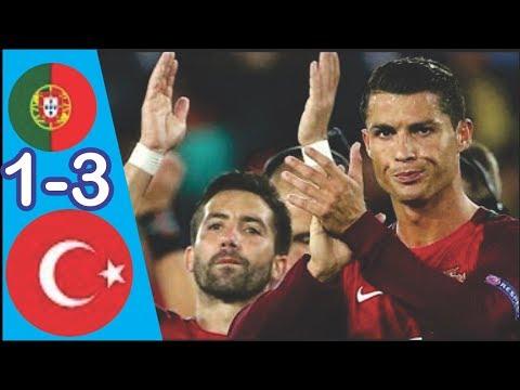 Portugal vs Turkey 1-3   All Goals & Extended Highlights