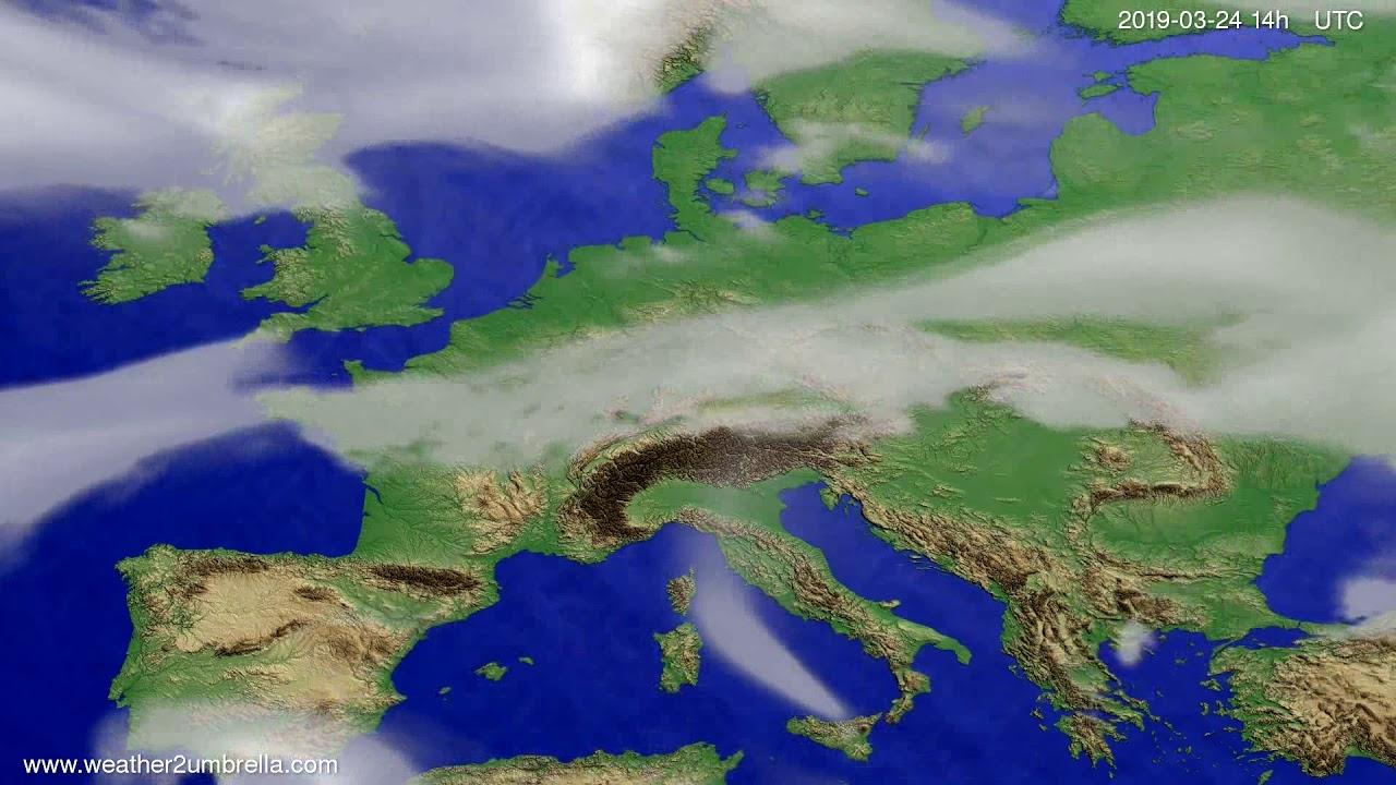 #Weather_Forecast// Cloud forecast Europe 2019-03-22