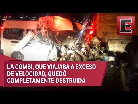 Varios muertos en un choque en la México-Pachuca