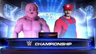 WWE 2K18 Mario Vs Kirby
