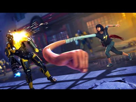 Marvel's Avengers - Ms. Marvel and The Avengers Assault the AIM Forces 4K Gameplay Moments