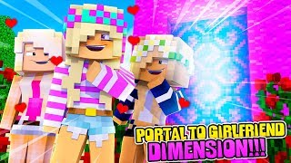 Minecraft HOW TO MAKE A PORTAL TO THE GIRLFRIEND DIMENSION w/ LITTLE DONNY!!!