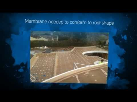 Curved Flat Timber Roof - Waterproofing Membrane