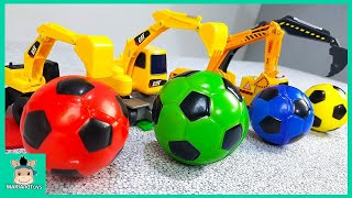 Video Colors for Children Learn with Tayo Toy Excavator Truck. Learn Colors with Soccer Ball | MariAndToys MP3, 3GP, MP4, WEBM, AVI, FLV Mei 2019