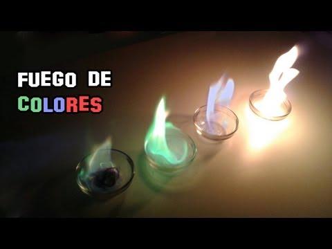 Como Hacer Fuego de Colores   Experimentos Caseros
