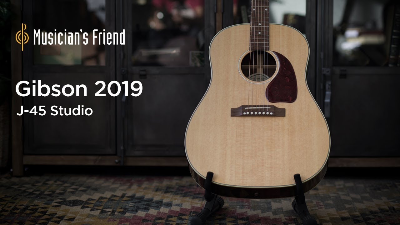 Gibson 2019 J-45 Studio Acoustic-Electric Guitar Demo