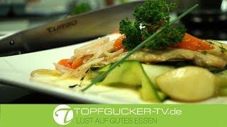 Dorade | Gemüsebett | Beurre Blanc Sauce | CHROMA Messer | All-Clad