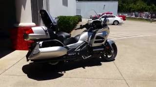 8. 2016 Honda Gold Wing Walk-Around Video   Matte Altair Silver GL1800 Touring Motorcycle - GL18HPM