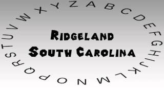 Ridgeland (SC) United States  City pictures : How to Say or Pronounce USA Cities — Ridgeland, South Carolina