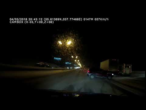 Авария в Москве на МКАД