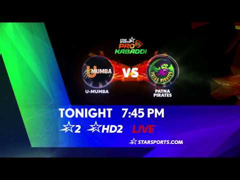U-Mumba Vs Patna Pirates - 29th July 29 July 2014 03 PM