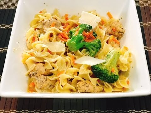 Chicken & Broccoli Over Egg Noodles