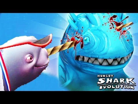Hungry Shark Evolution  Natasha The Narwhal vs   YouTube