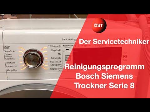 Bosch,Siemens Trockner Spülprogramm Serie 8 Modelle