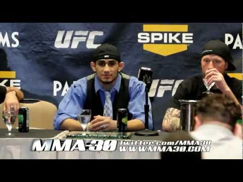 TUF 13 Finale: Post Fight Press Conf - The New Champ&Pettis With No Regrets