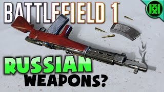 """Battlefield 1's """"In the Name of the Tsar"""" DLC (the Russian one) will be released in the late summer 2017, but what new weapons will we be getting? Here's some of the most likely guns that we might see in the dlc later on this year.Battlefield 1: """"In the Name of the Tsar"""" Likely DLC Weapons (Russian DLC 2)Some of the weapons are pretty obvious, such as the MG-14/17 LMG and the Fedorov Avtomat assault rifle, as we can see them on some of the """"In the name of the Tsar"""" concept art images released a while back, but some others, such as the Mosin-Nagant are also very likely to pop up too, down to how much of a role they played in the Russian Army during the Great War. (PS4 Pro Gameplay)Facebook:  https://www.facebook.com/kriticalkrisTwitter:  https://twitter.com/KriticalKrisMusic:Intro:Krale - Frontier (ft. Jasmina Lin & Jay Christopher) [NCS Release]http://www.youtube.com/watch?v=pGMojZB0Lm0Check out my channel: KriticalKris Channel : https://www.youtube.com/channel/UC5d9SQiZzg7qFcqF0xTOFXQ/feedhttps://youtu.be/Q55bJnIXdvg"""