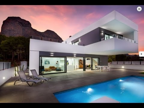 New villa in the north of the Costa Blanca, Polop. High-tech house on the coast of Spain
