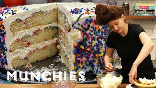 How-To Make Confetti Birthday Cake by Munchies