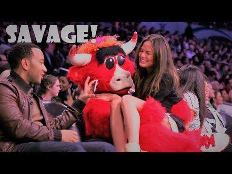 NBA SAVAGE MASCOT MOMENTS (видео)