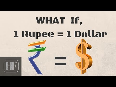 What Happens, if 1 ₹ = 1 $ (Rupee=Dollar) (видео)