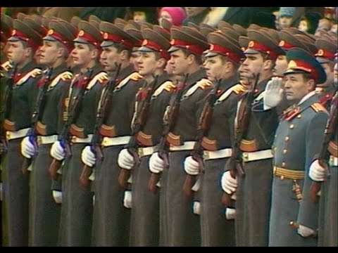 HD Soviet October Revolution Parade, 1977 Part I Парад 7 Ноября